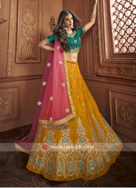 Heavy Embroidered Lehenga Choli with Dupatta