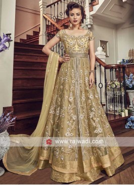 Heavy Embroidered Lehenga Style Salwar Kameez