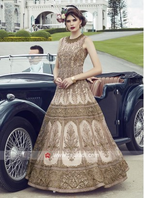 Heavy Embroidered Net Anarkali Dress