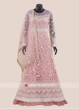 Heavy Embroidered Net Anarkali Salwar Kameez