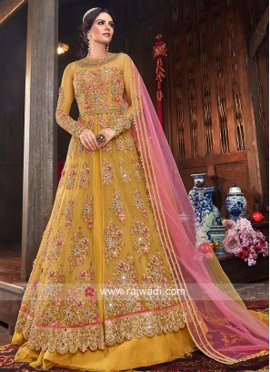 Heavy Embroidered Net Salwar Kameez