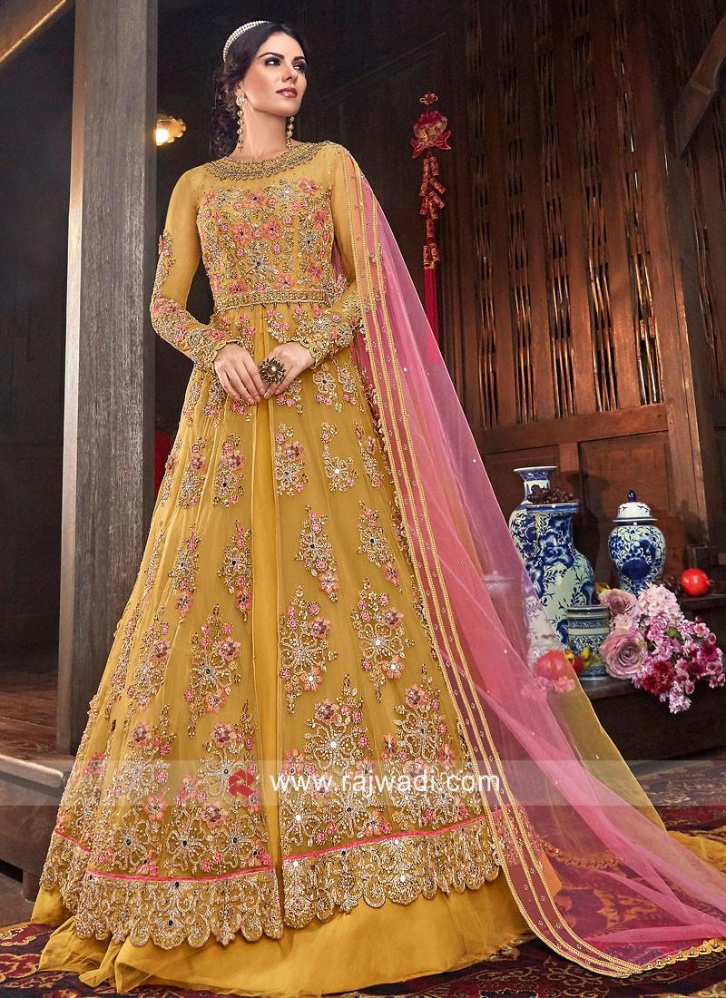 Heavy Embroidered Net Salwar Kameez