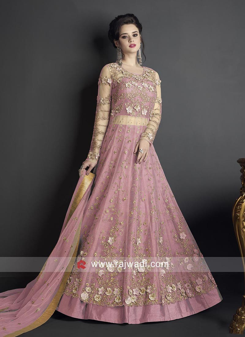 Heavy Embroidered Pink Salwar Suit