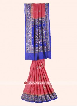 Heavy Embroidered Saree with Blouse