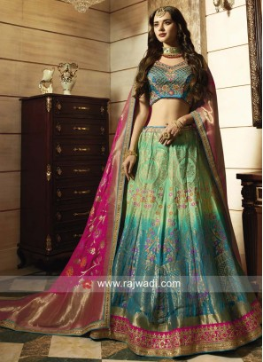 Heavy Embroidered Shaded Lehenga Choli