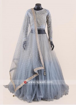 Heavy Embroidered Shaded Lehenga Set