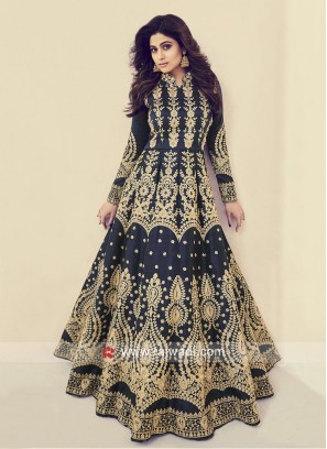 Heavy Embroidered Shamita Shetty Gown