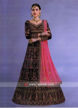 Heavy Embroidered Velvet Lehenga Choli