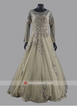 Heavy Embroidered Wedding Gown