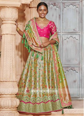Heavy Embroidered Wedding Lehenga
