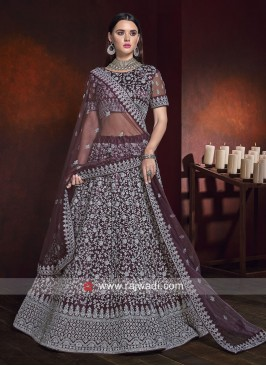 Heavy Embroidered Wedding Lehenga Set