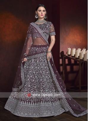 Heavy Embroidered Wedding Lehenga Set