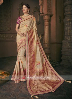 Heavy Embroidered Wedding Saree