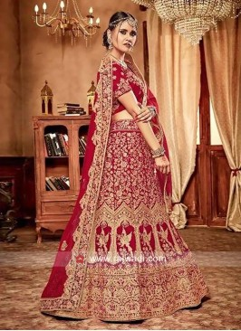 Heavy Embroidery Lehenga for Dulhan