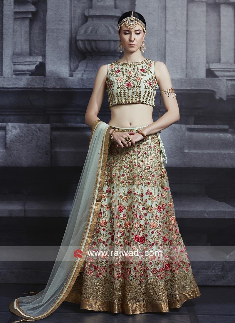 Heavy Embroidery Net Choli Suit