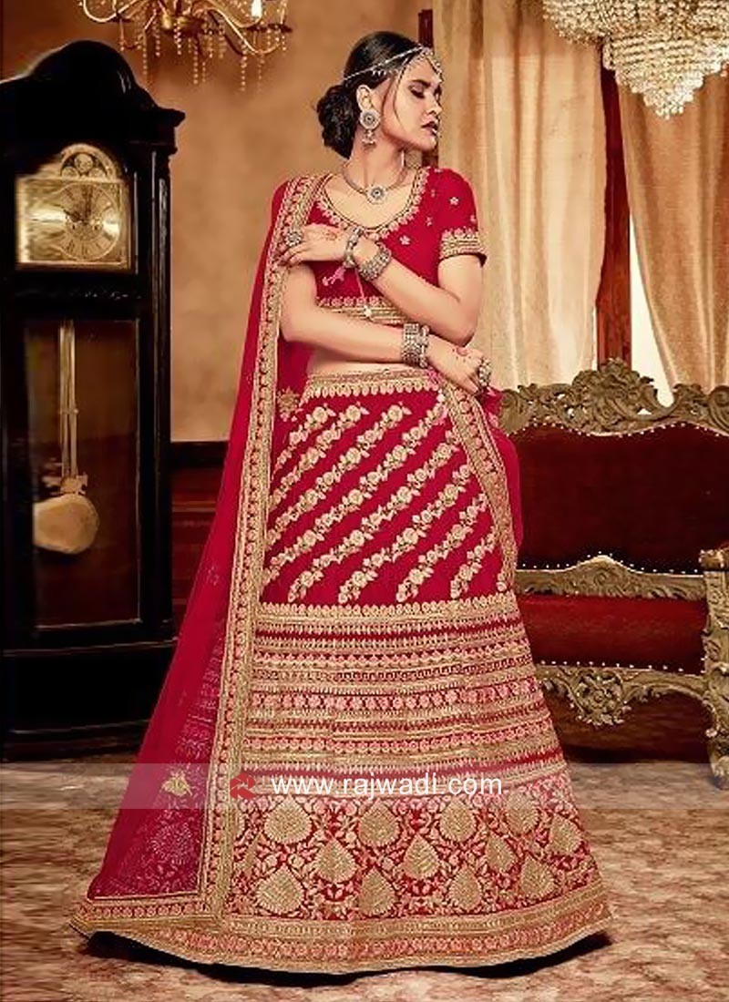Heavy Embroidery Bridal Lehenga Set