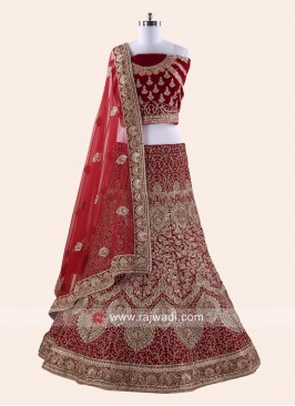 Heavy Emroidery Bride Lehenga Set