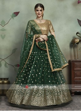 Heavy Sequins Work Lehenga Set