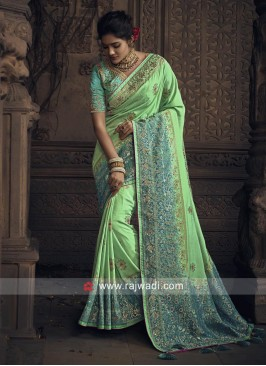 Heavy Wedding Shaded Saree