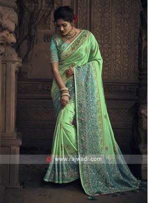 Heavy Wedding Shaded Saree
