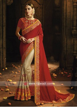 Heavy Work Half n Half Saree