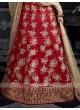 Bridal Red Lehenga Choli with Dupatta