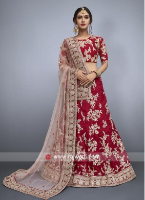 Heavy Work Unstitched Bridal Lehenga Set