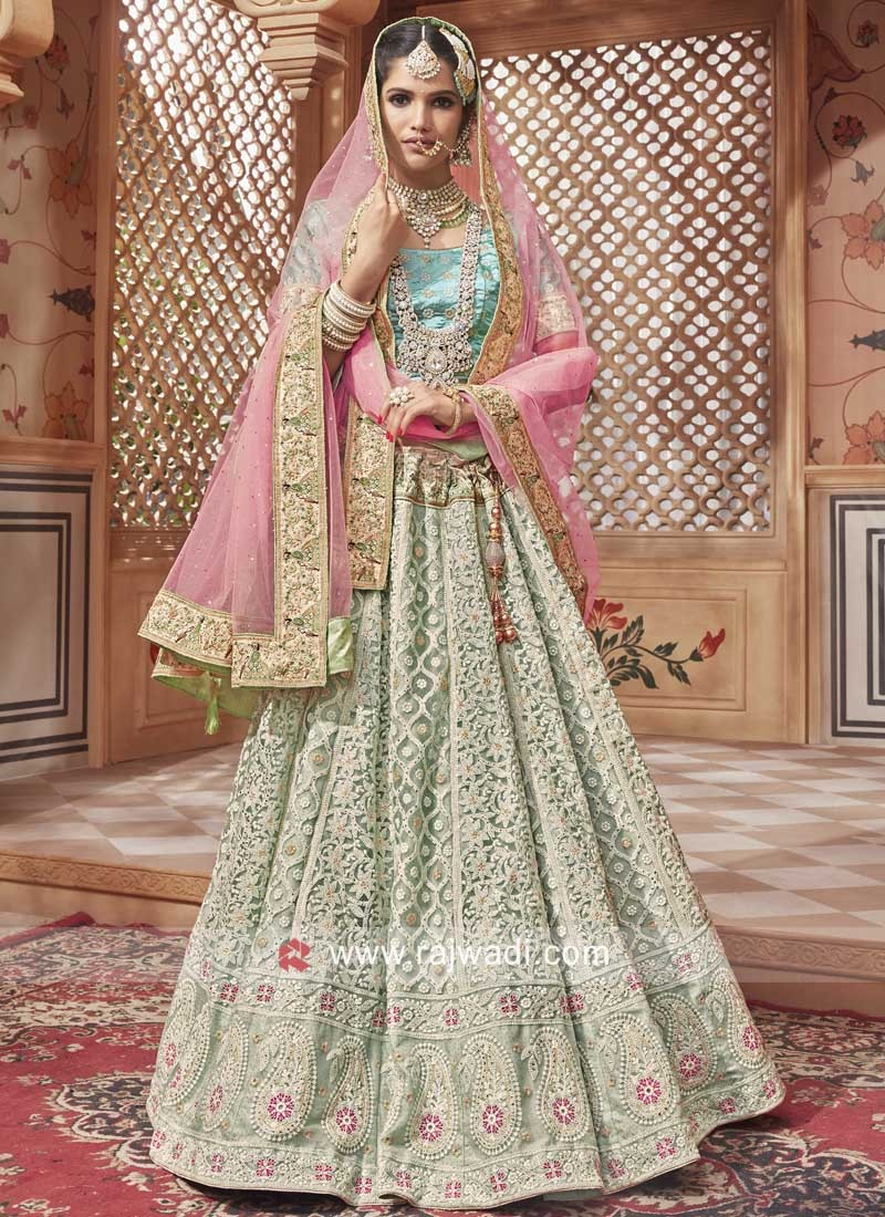 Heavy Work Unstitched Lehenga