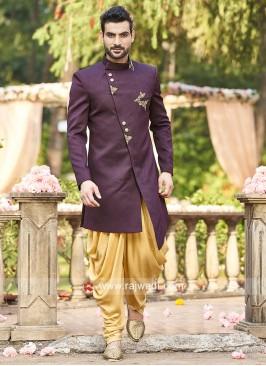 Herringbone Fabric Indo Western
