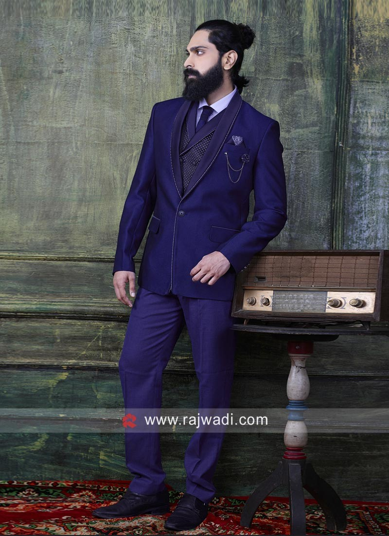Attractive Blue Imported Suit