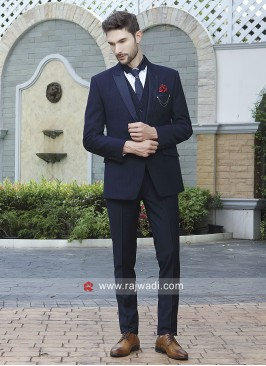 Attractive Navy Suit For Party