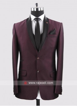 Herringbone Fabric Suit For Party