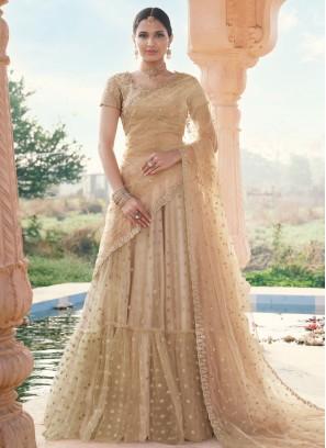 Honourable Beige Wedding Bollywood Lehenga Choli
