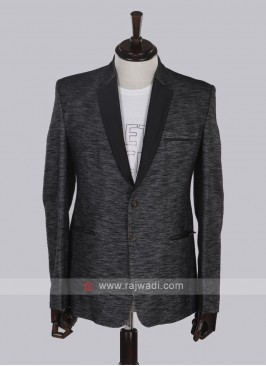 Hosiery cotton fabric black blazer