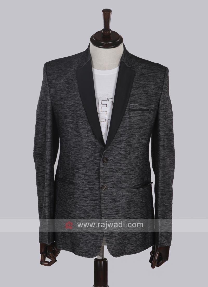 Hosiery cotton fabric black blazer