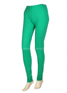 Hosiery Fabric Medium-Sea Green Leggings