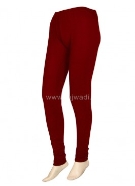 Hosiery Maroon Coloured Leggings For Women