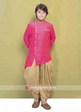 Hot Pink Color Party Wear Indo Western