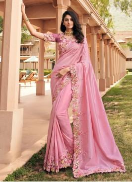 Hypnotic Pink Ceremonial Classic Saree