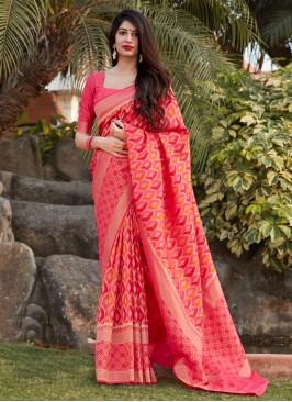 Hypnotic Weaving Engagement Traditional Saree