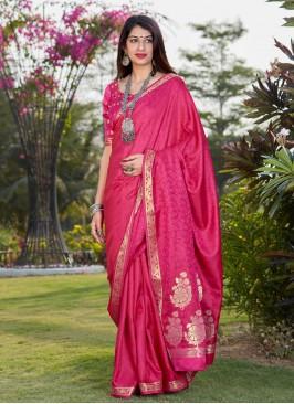 Impeccable Banarasi Silk Festival Traditional Designer Saree