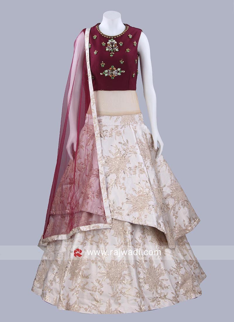 Imported Art Satin Silk Layered Gown