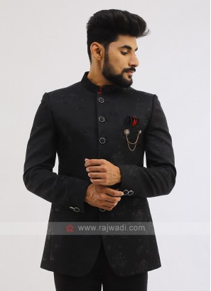 Imported Black Jodhpuri Suit