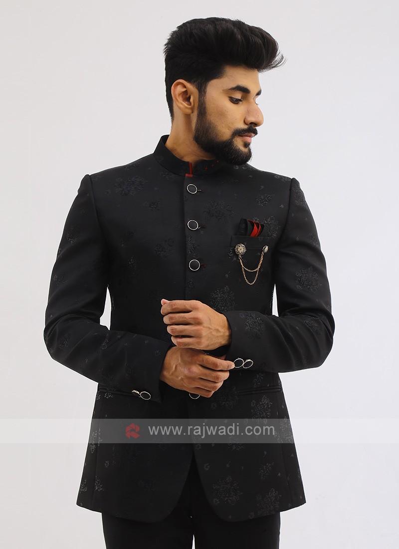 Imported Black Jodhpuri Suit