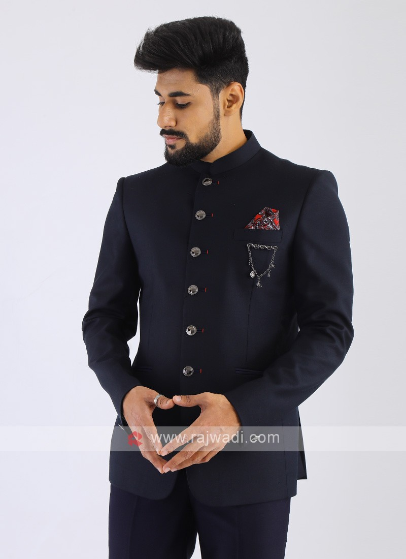 Imported Blue Jodhpuri Suit