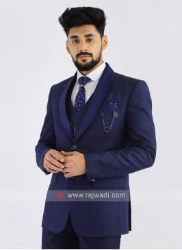 Imported Blue Party Wear Suit