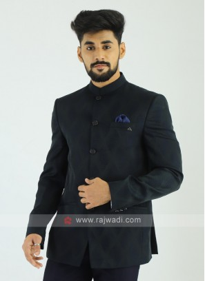 Imported Bottle Green Jodhpuri Suit