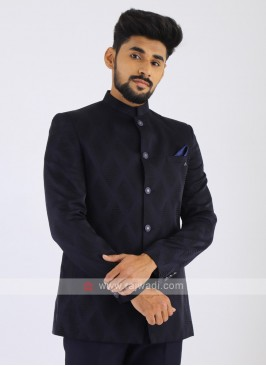 Imported Dark Blue Jodhpuri Suit