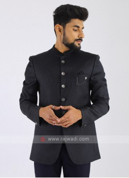 Imported Dark Grey Jodhpuri Suit