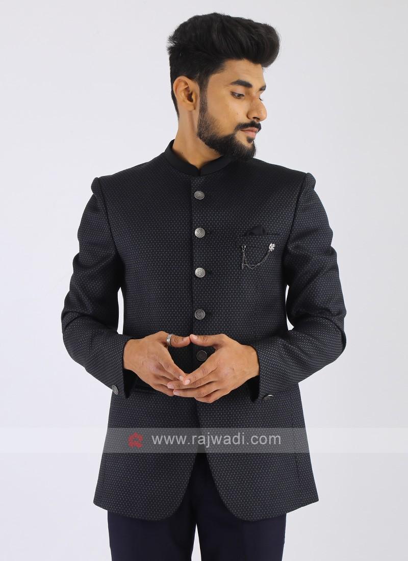 Imported Dark Grey Jodhpuri Suit